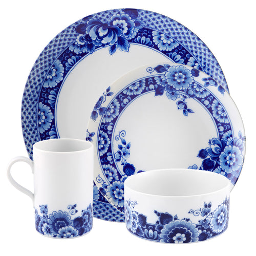 Vista Alegre Porcelain Blue Ming 16 Piece Dinnerware Set