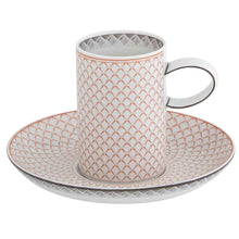 Load image into Gallery viewer, Vista Alegre Porcelain Maya Espresso Coffee Cup & Saucer - Set of 4
