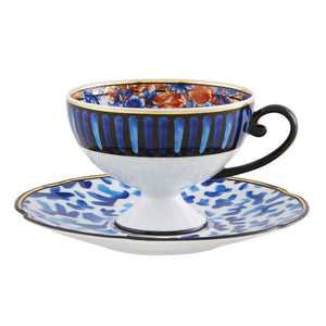 Vista Alegre Porcelain Cannaregio Tea Cup and Saucer - Set of 4
