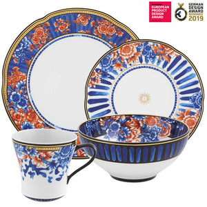 Vista Alegre Porcelain Cannaregio 4 Piece Dinnerware Set