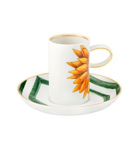 Vista Alegre Amazonia Porcelain Coffee Cup and Saucer - Set of 4
