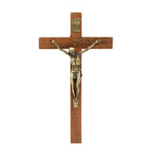 "Load image into Gallery viewer, 6"" Wooden Wall Crucifix Jesus Christ Cross"