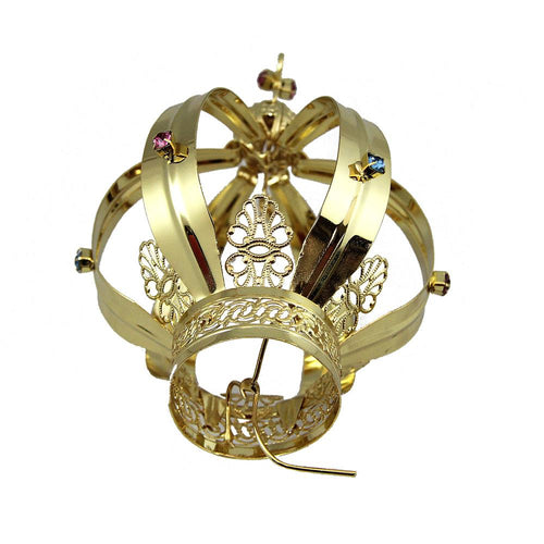 Metal Crown For Our Lady Of Fatima Virgin Mary Religious Statues