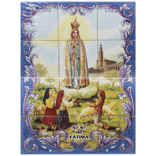 Load image into Gallery viewer, Our Lady of Fatima Apparition Portuguese Ceramic Tile Art Wall Panel Mural Decor