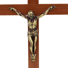 "Load image into Gallery viewer, 9.25"" Wooden Wall Crucifix Jesus Christ Cross"