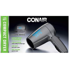Conair 124TLR Folding Travel 1875w Hair Dryer 120/240 Volts
