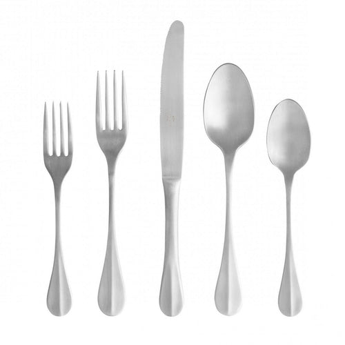 Costa Nova Nau 20 Piece 18/10 Brushed Stainless Steel Flatware Set