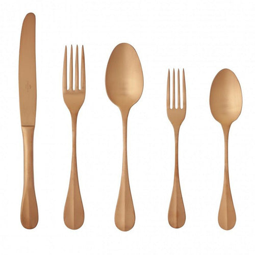 Costa Nova Nau PVD Copper 20 Piece 18/10 Stainless Steel Flatware Set
