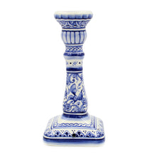 Load image into Gallery viewer, Coimbra Ceramics Hand-painted Decorative Candle Holder XVII Century Recreation #159-1