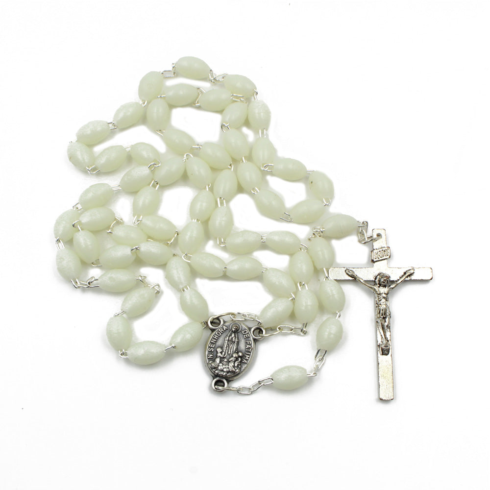Pearl Plastic Beads Catholic Our Lady of Fatima Rosary Made in Portugal