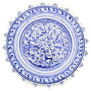 Coimbra Ceramics Hand-painted Decorative Hanging Plate XVII Cent Recreation #178-1