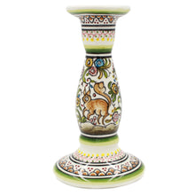 Load image into Gallery viewer, Coimbra Ceramics Hand-painted Decorative Candle Holder XVII Century Recreation #198-4