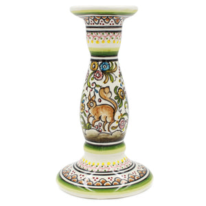Coimbra Ceramics Hand-painted Decorative Candle Holder XVII Century Recreation #198-4