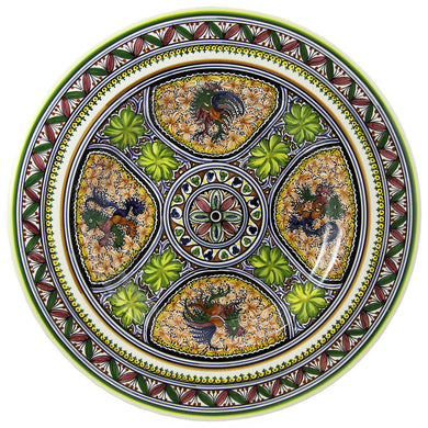 Hand Painted Decorative Dish XVII Century Recreation #248