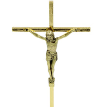 "Load image into Gallery viewer, 8.5"" Metallic Altar Golden Crucifix With Stand"