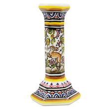 Load image into Gallery viewer, Coimbra Ceramics Hand-painted Decorative Candle Holder XVII Century Recreation #269/1-2