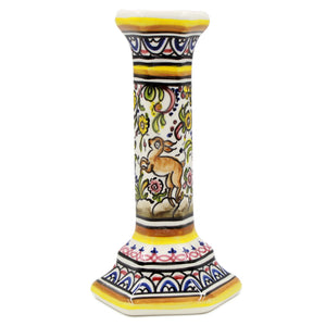 Coimbra Ceramics Hand-painted Decorative Candle Holder XVII Century Recreation #269/1-2