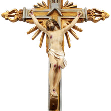 "Load image into Gallery viewer, 25"" Inch Resin Carved Wall Crucifix Jesus Christ Cross"