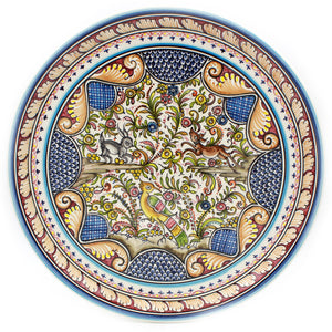 Coimbra Ceramics Hand-painted Decorative Hanging Plate XVII Cent Recreation #274-3