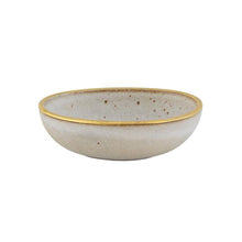 Load image into Gallery viewer, Casa Alegre Gold Stone Stoneware Bowl 15 Oz White - Set of 4