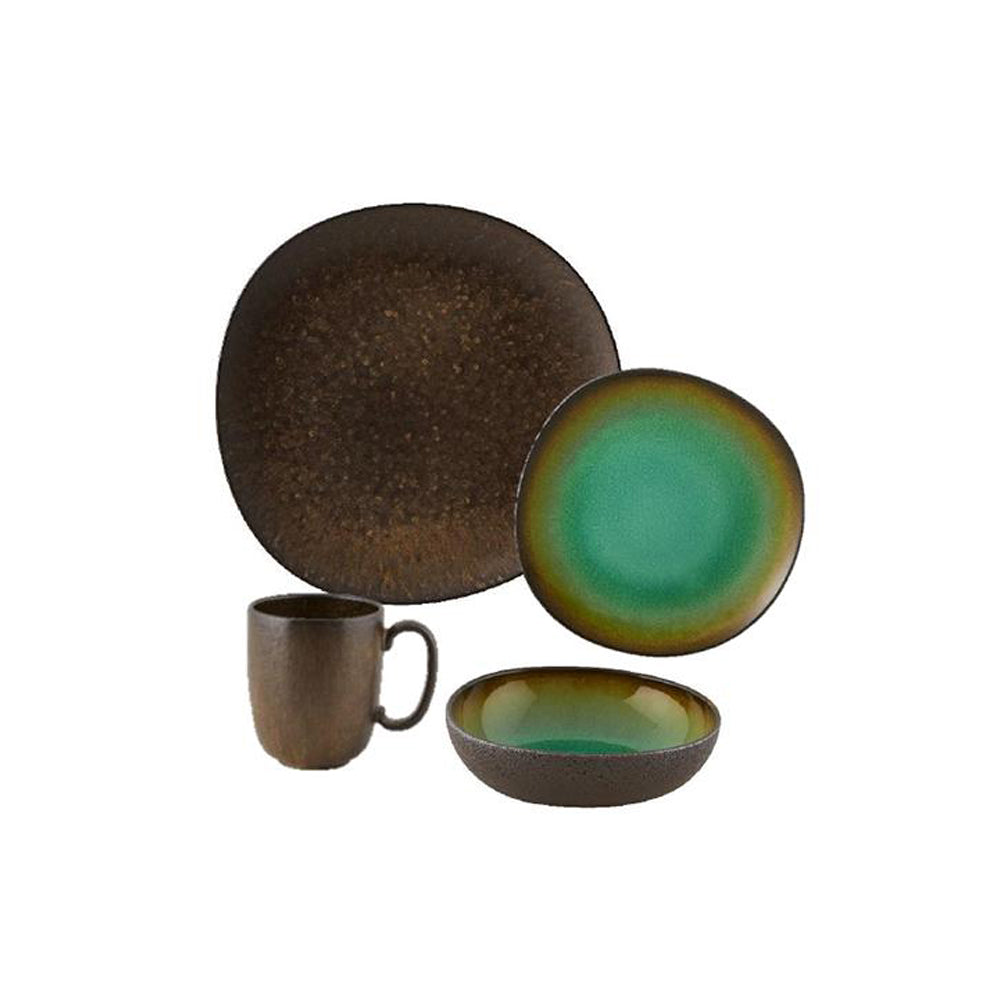 Casa Alegre Amazonia Stoneware 4 Pieces Place Setting Dinnerware Set