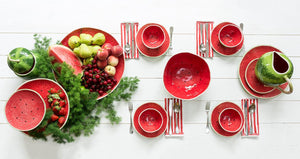 Bordallo Pinheiro Watermelon Charger Plate - Set of 2