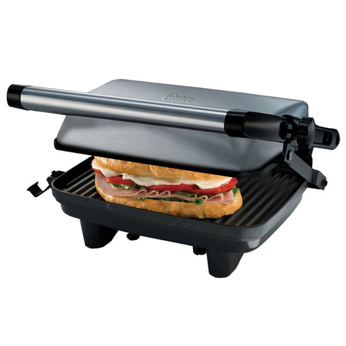 Oster CKSTPA2880 Compact Silver Grill Sandwich Make 220 Volts Export Only