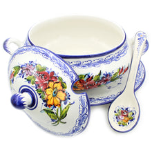 Load image into Gallery viewer, Hand-painted Traditional Portuguese Pottery Ceramic Tureen #535