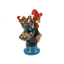 Hand-painted Traditional Portuguese Aluminum Rooster With 6 Appetizer Forks