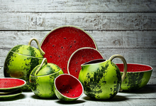 Load image into Gallery viewer, Bordallo Pinheiro Watermelon Cake Stand 32,5
