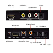 Load image into Gallery viewer, AV / CVBS + HDMI to HDMI 720P / 1080P HD Video Converter - Dual Voltage