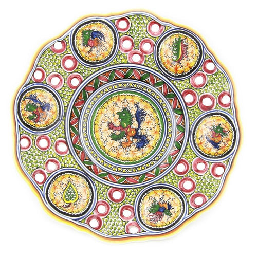 Coimbra Ceramics Hand-painted Hanging Decorative Plate XVII Century Recreation #192