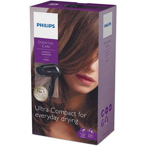 Philips BHD001 1200 Watts Compact Hair Dryer 220-240 Volts 50/60Hz Export Only