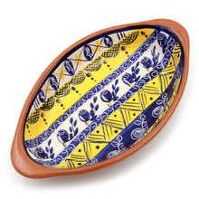 Hand-painted Vintage Traditional Portuguese Terracotta Boat Platter
