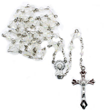 Load image into Gallery viewer, Clear Faceted Plastic Beads Our Lady of Fatima Rosary