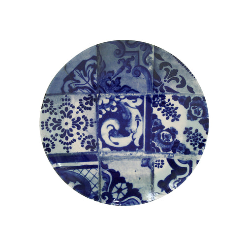 Costa Nova Lisboa Collection Stoneware Ceramic Buffet Dinner Plate - Set of 4