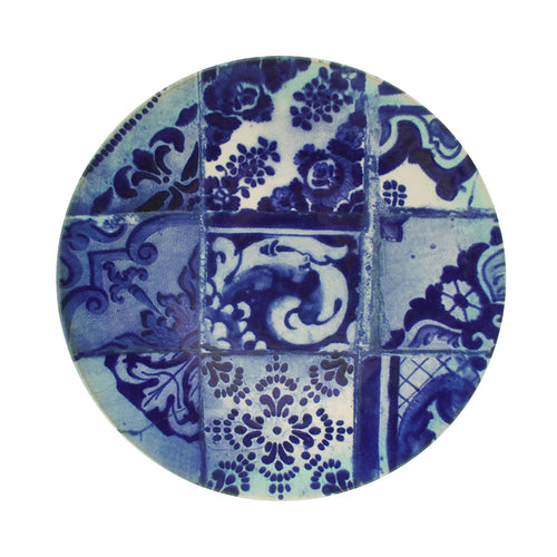 Costa Nova Lisboa Collection Stoneware Ceramic Charger Plate - Set of 2