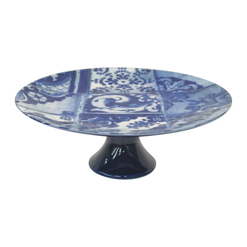 Costa Nova Lisboa Collection Stoneware Ceramic Footed Cake Stand