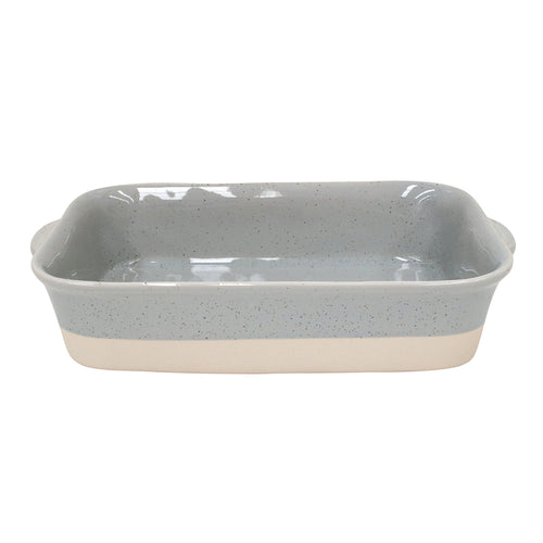 Casafina Fattoria Stoneware Ceramic Gray Medium Rectangular Baker