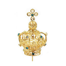 Load image into Gallery viewer, Filigree Metal Crown For Our Lady Of Fatima Virgin Mary Religious Statues