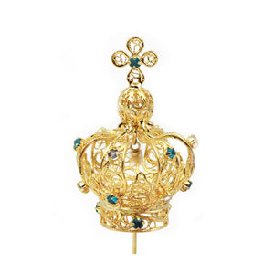 Filigree Metal Crown For Our Lady Of Fatima Virgin Mary Religious Statues