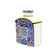 Hand-painted Decorative Traditional Portuguese Ceramic Flask