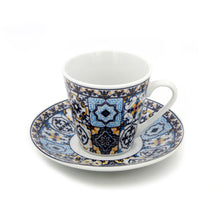 Load image into Gallery viewer, Portuguese Ceramic Espresso Cups Souvenir From Portugal - Set of 2