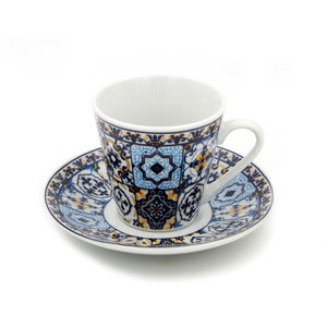 Portuguese Ceramic Espresso Cups Souvenir From Portugal - Set of 2