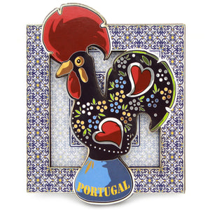 Traditional Portuguese Rooster Wooden Refrigerator Magnet GS1492