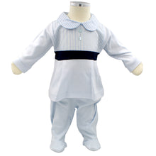 Load image into Gallery viewer, Minhon 100% Cotton Blue Baby Boy Long Sleeve Set 3-6-12 Months