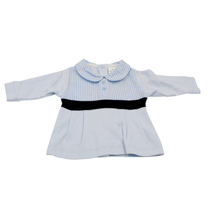 Minhon 100% Cotton Blue Baby Boy Long Sleeve Set 3-6-12 Months