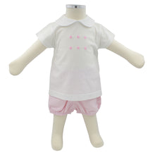 Minhon 100% Cotton Pink Baby T-Shirt and Shorts Set 3-6 Months