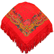 Load image into Gallery viewer, Portuguese Folklore Regional Half Head Viana Scarf Shawl With Fringe