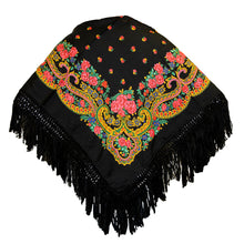 Portuguese Folklore Regional Head Scarf Shawl With Fringe